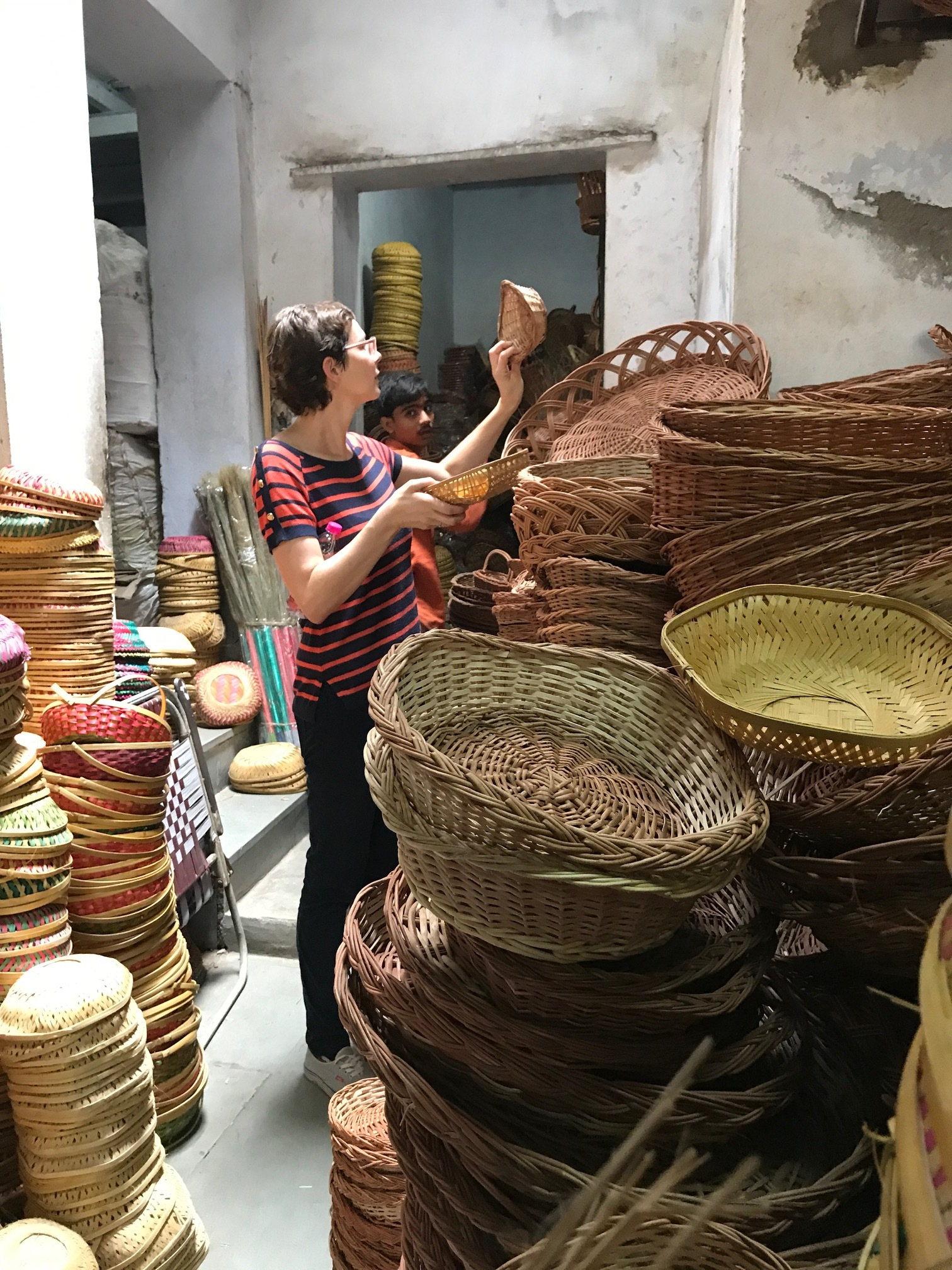 Bamboo baskets in Old Ahmedabad