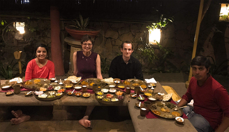 Goodbey dinner with Urvi and Sagar