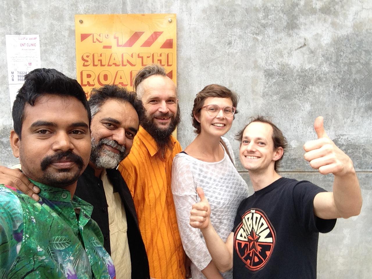 Goodbye selfie - Sandeep, Suresh, Luki and the two of us.