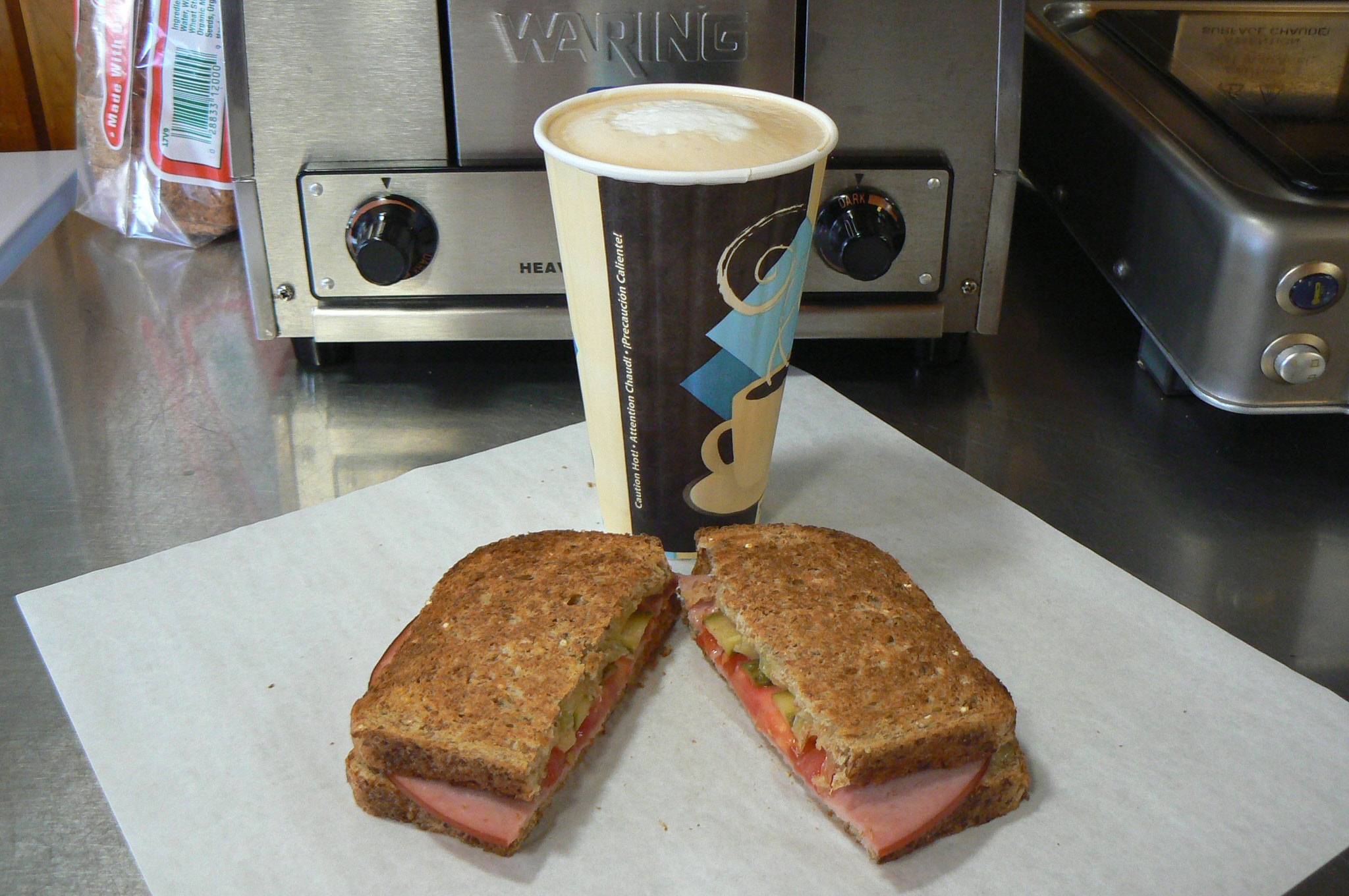 Latte and Sandwich