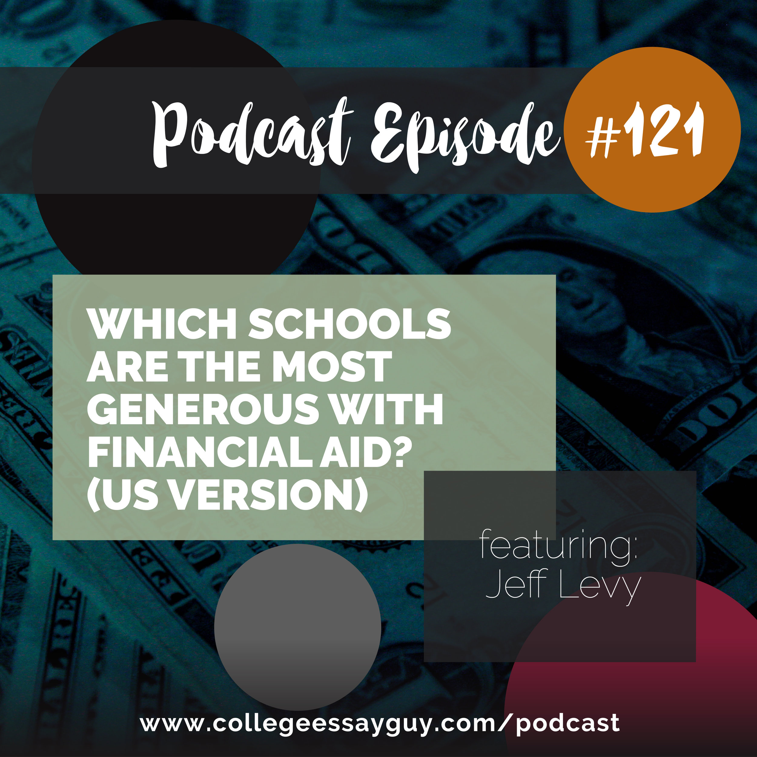 I'm super excited about this episode as it's part one of three in a series of incredible resources put together by my beautiful colleagues Jeff Levy and Jennie Kent. The first resource (which is the topic of this podcast that you're about to hear) is a spreadsheet with a list of over 400 colleges and tells you what their total cost of attendance is, what percentage of financial need they meet.