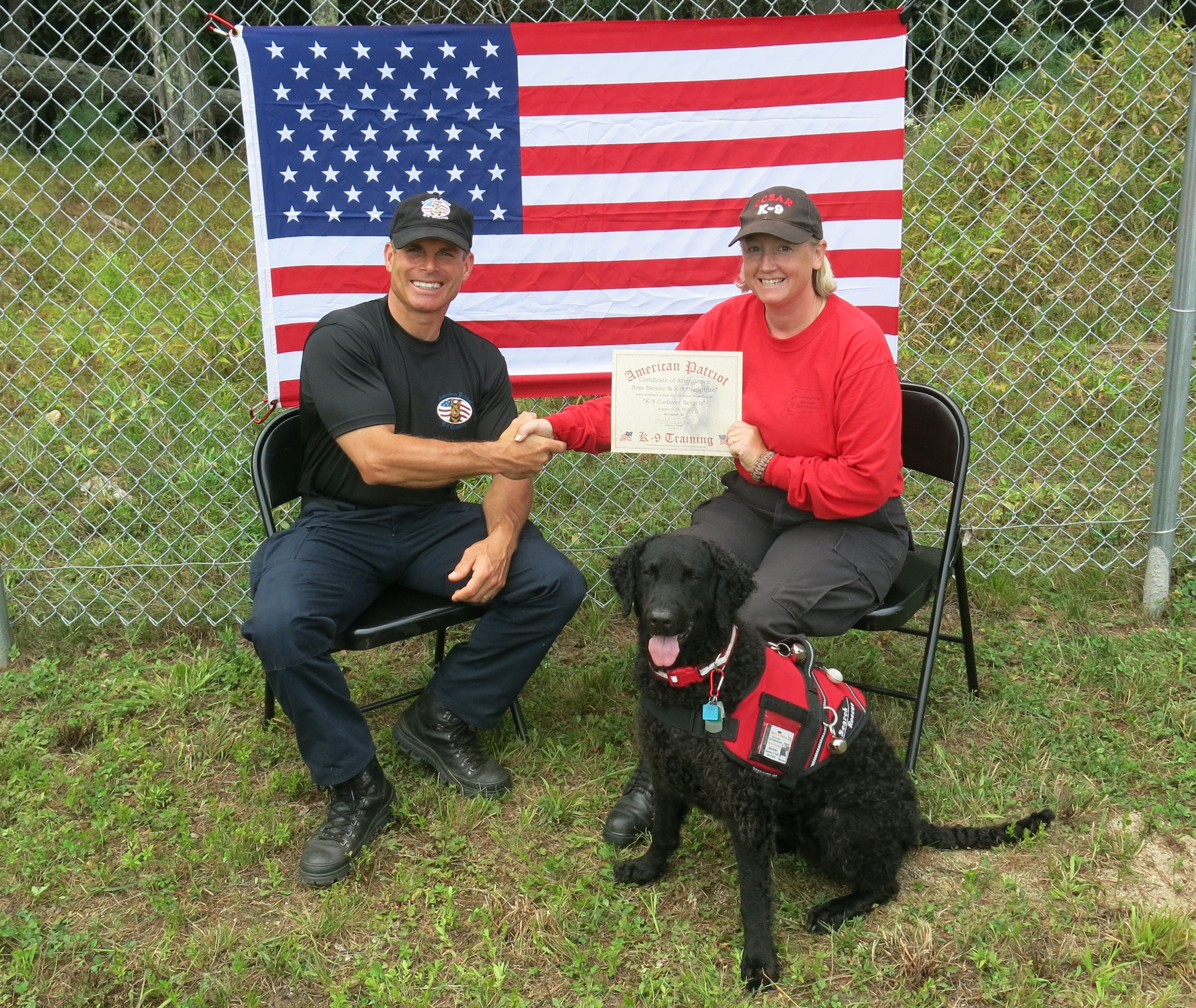 "Dedicated to ""Team Sapphire"" - Connecticut Canine Search and Rescue    - Bree Berner and Sapphire the Curly Coated Retriever        Normal   0           false   false   false     EN-US   X-NONE   X-NONE                                                                                                                                                                                                                                                                                                                                                                           /* Style Definitions */  table.MsoNormalTable 	{mso-style-name:""Table Normal""; 	mso-tstyle-rowband-size:0; 	mso-tstyle-colband-size:0; 	mso-style-noshow:yes; 	mso-style-priority:99; 	mso-style-parent:""""; 	mso-padding-alt:0in 5.4pt 0in 5.4pt; 	mso-para-margin-top:0in; 	mso-para-margin-right:0in; 	mso-para-margin-bottom:10.0pt; 	mso-para-margin-left:0in; 	line-height:115%; 	mso-pagination:widow-orphan; 	font-size:11.0pt; 	font-family:""Times New Roman"",""serif"";}"