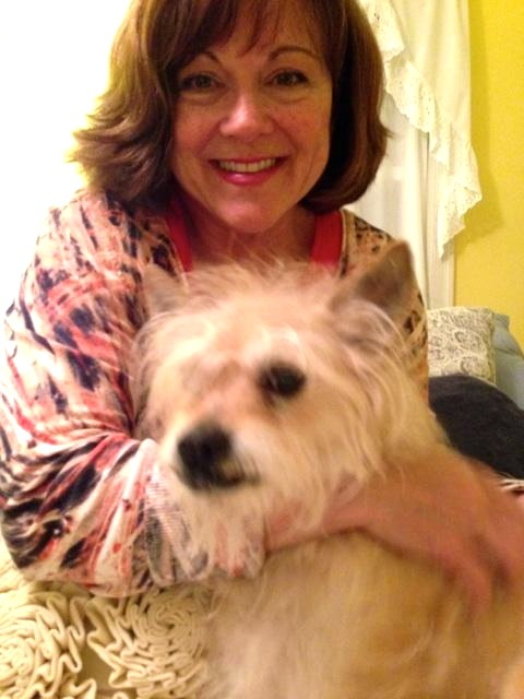 Laurie Masterson and her dog, Trixie.