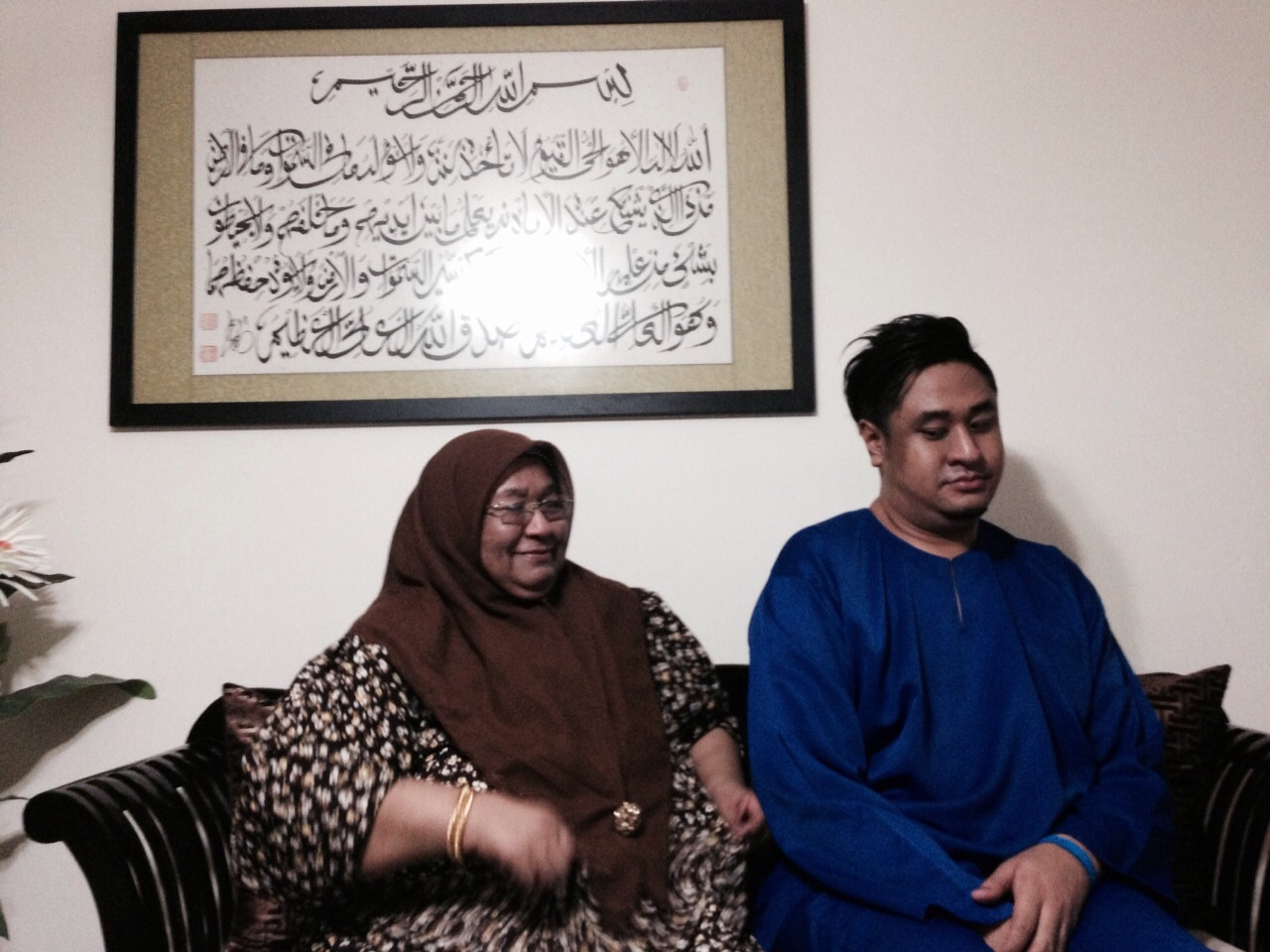 Ezzam and his mother.