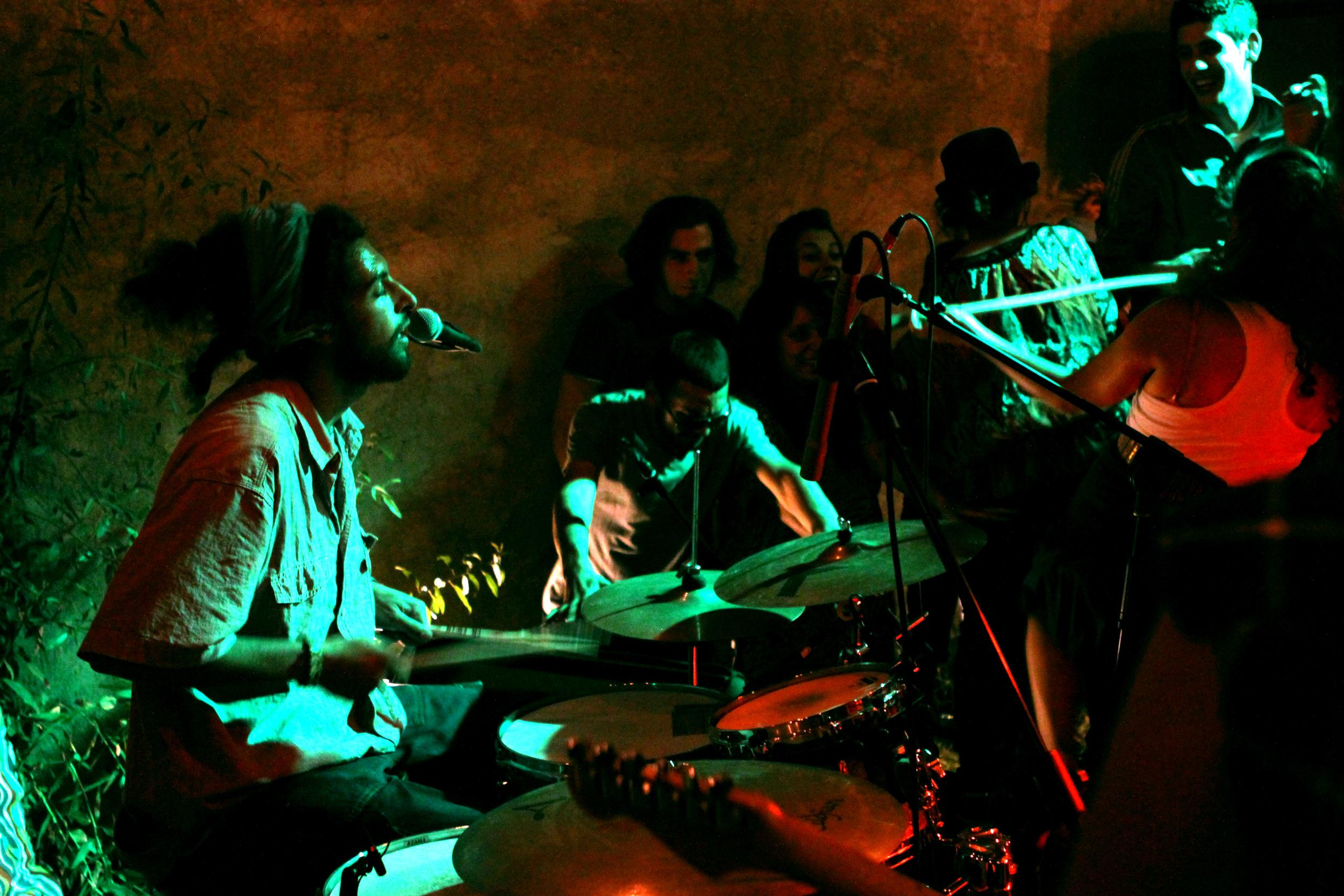 Toot Ard, Syrian reggae band, playing in Ramalah live