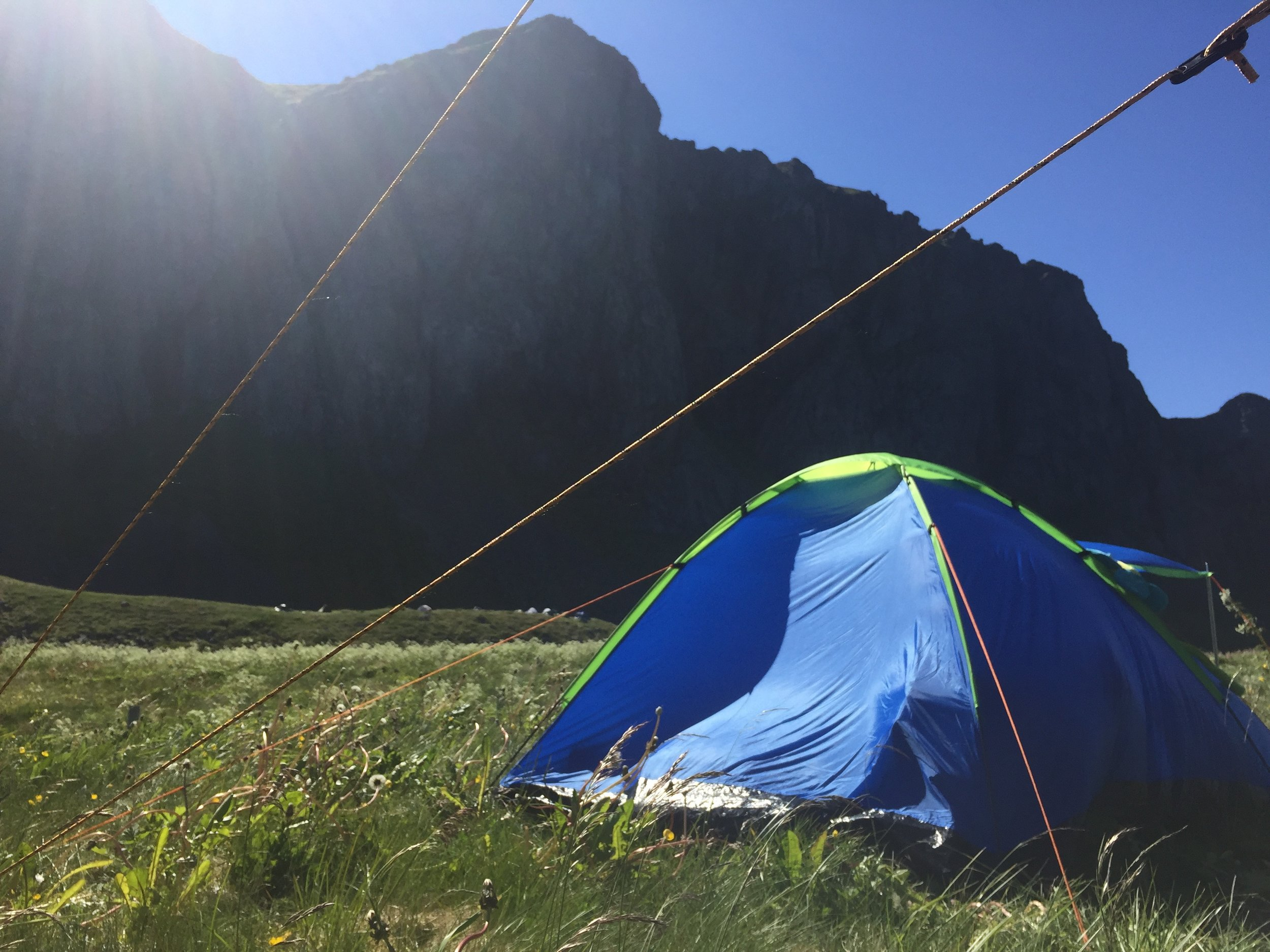 Please buy an expensive tent next time.