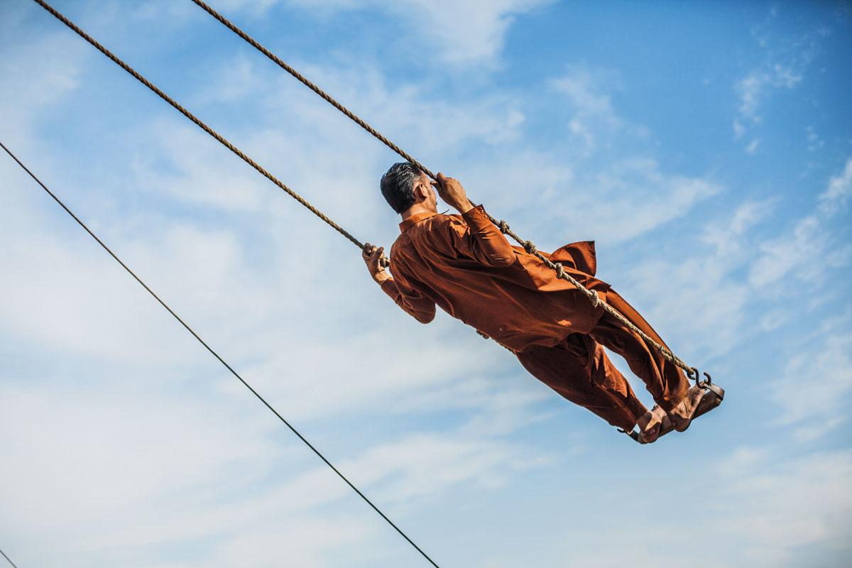 Man on Swing: Lahore