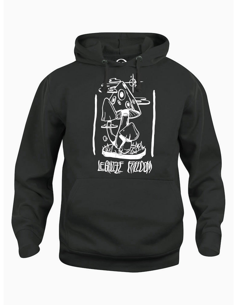 Legalize Freedom hoodie  €34.99 Available in black, dark grey
