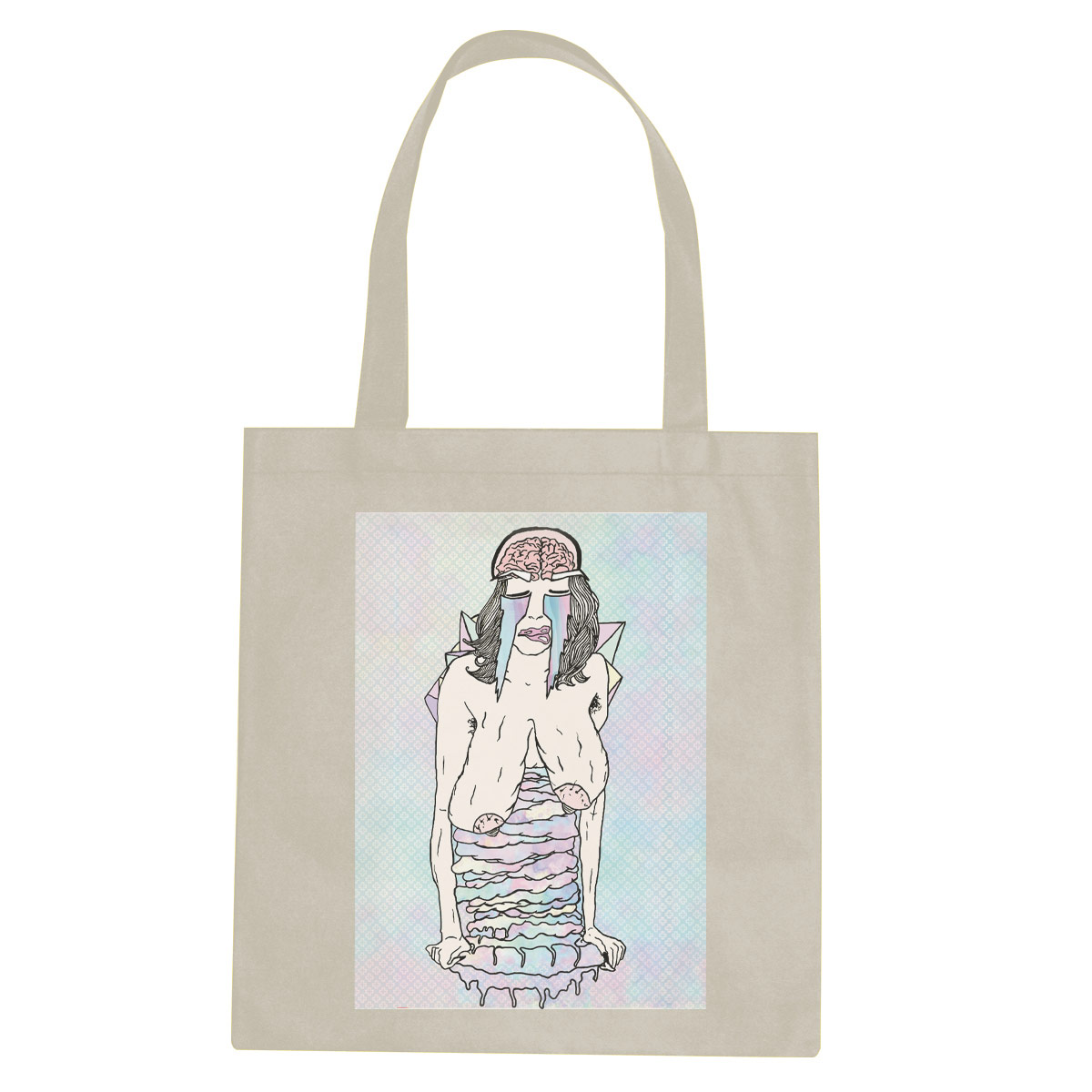 Drip tote bag  €14.99 Available in natural