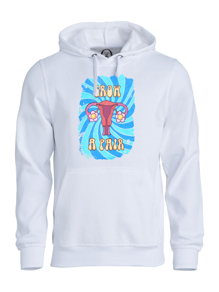 Grow a Pair hoodie  €34.99 Available in white