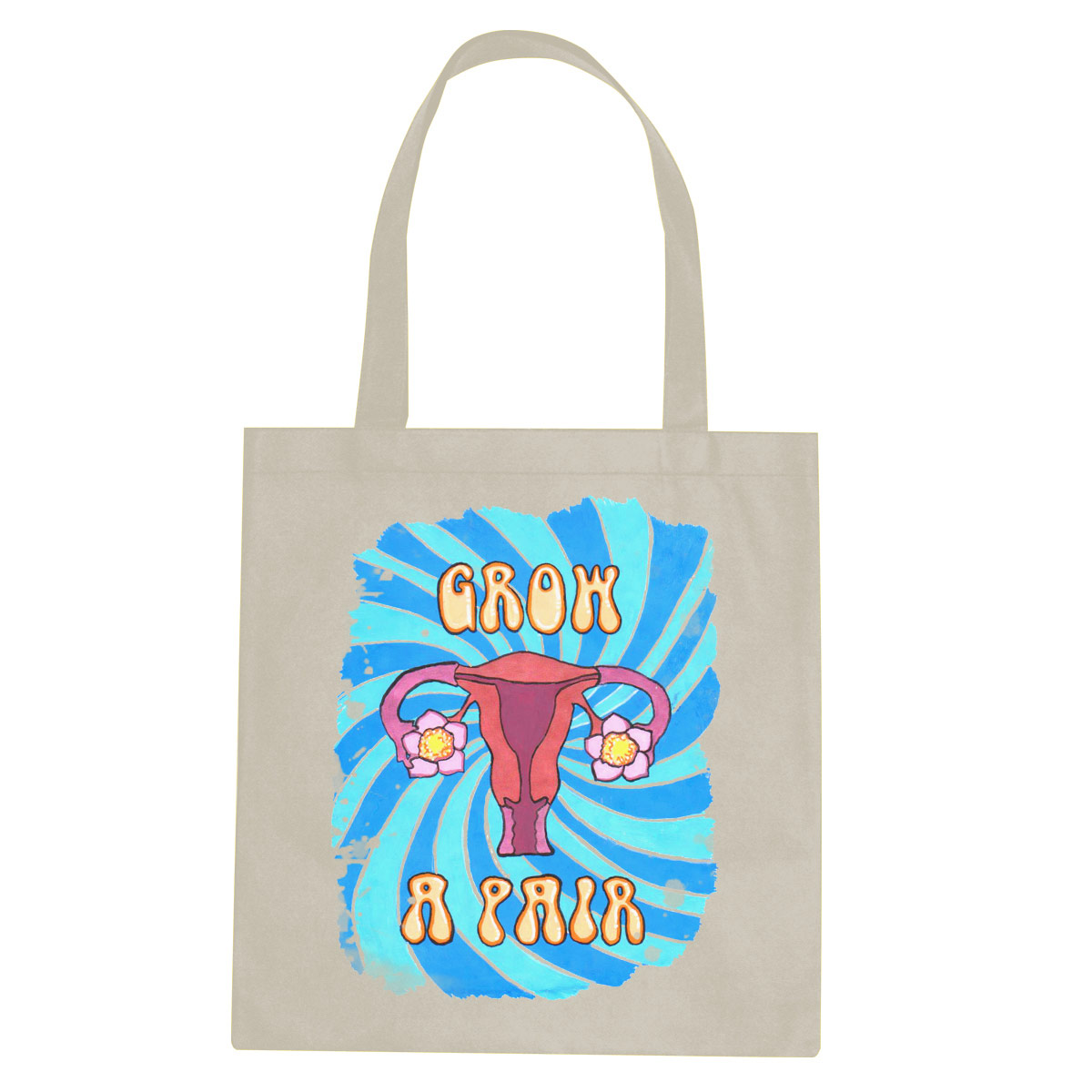 Grow a Pair tote bag  €14.99 Available in natural