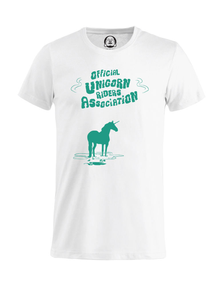 Unicorn Riders T-shirt  €19.99 Available in white