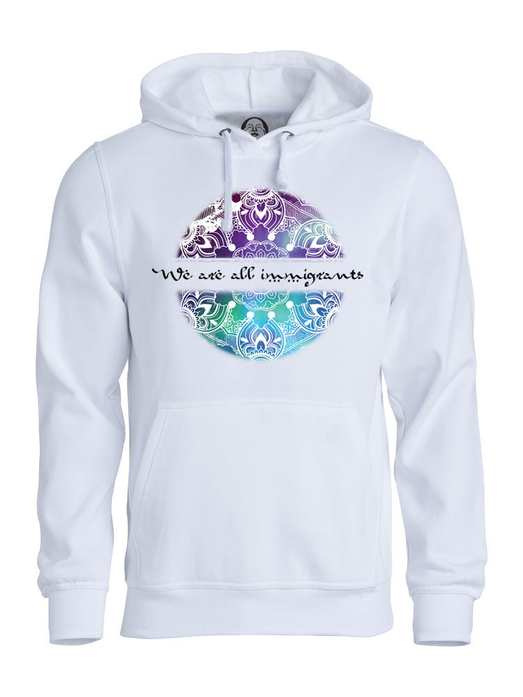 We Are All Immigrants hoodie  €34.99 Available in white