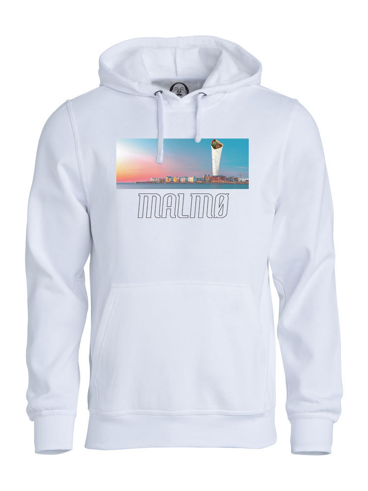 Malmø Turning Falafel hoodie  €34.99 Available in white