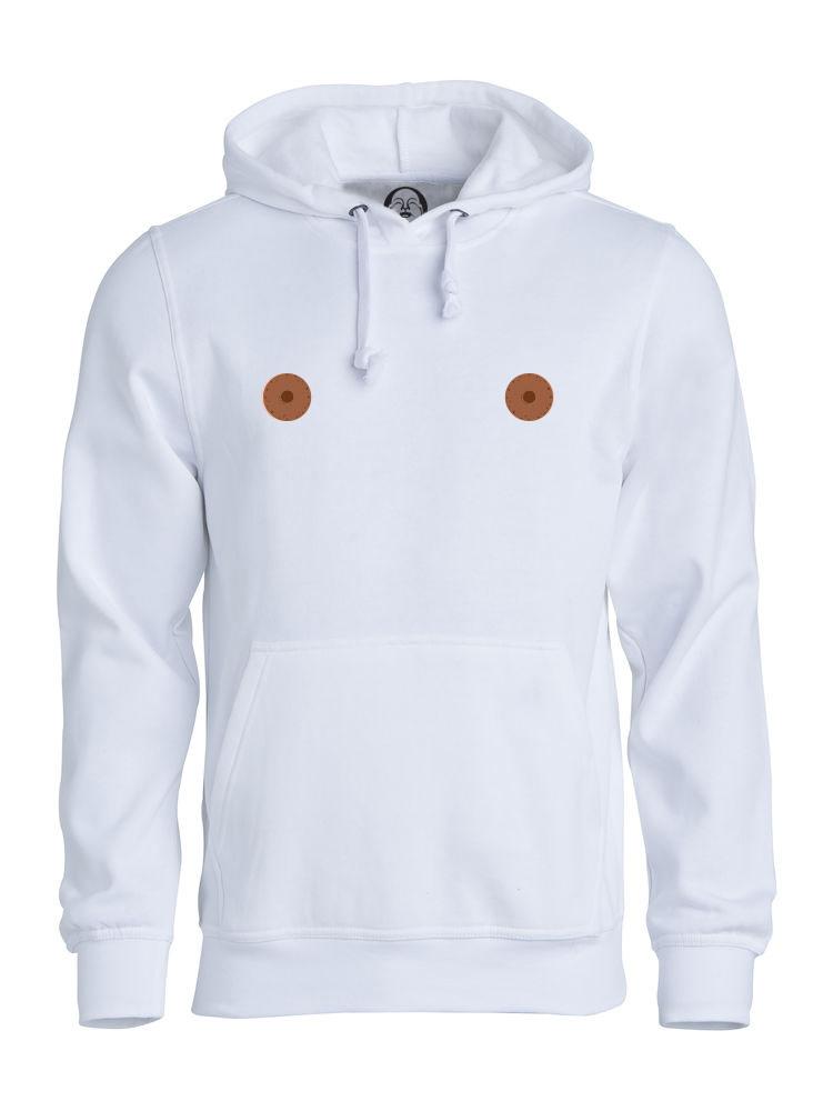 Brown nipple hoodie  €34.99 Available in white, black, dark grey