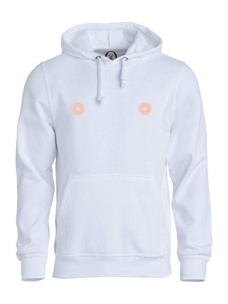 Pink nipple hoodie  €34.99 Available in white, black, dark grey