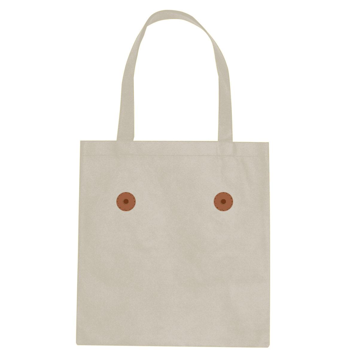 Brown nipple tote bag  €14.99 Available in natural, black