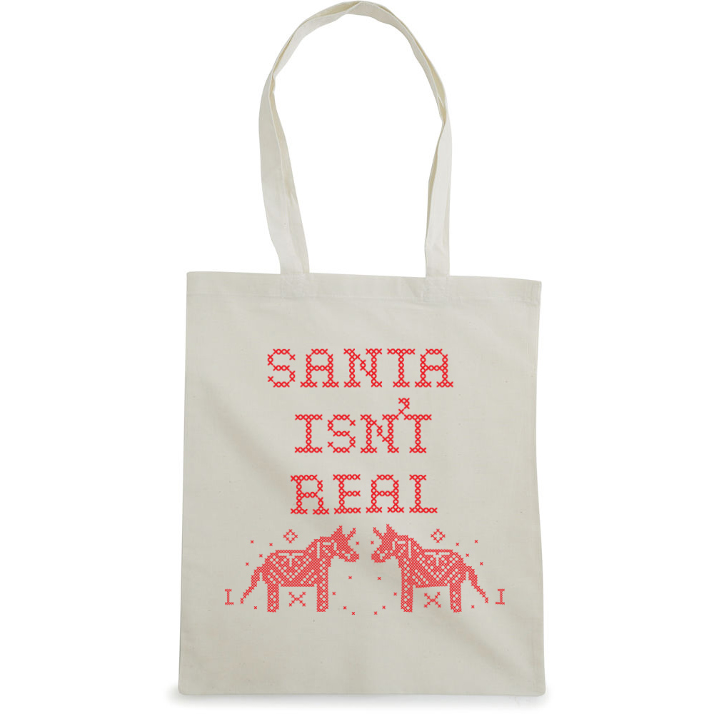 Unicorn Christmas tote bag  €14.99  Available in natural
