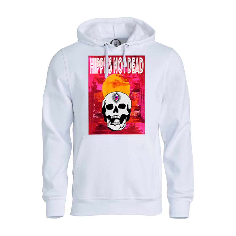 Hippies Not Dead hoodie  €34.99 Available in white, black, dark grey