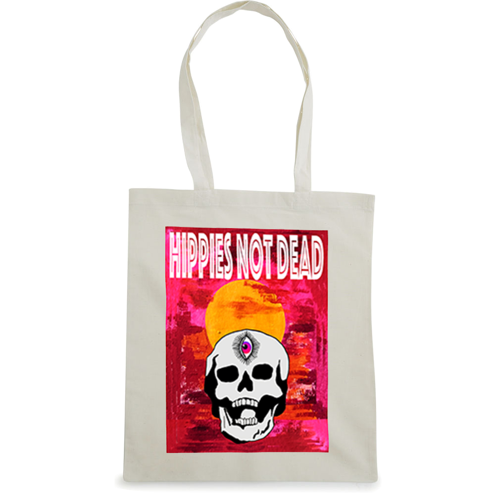 Hippies Not Dead tote bag  €14.99 Available in natural, black