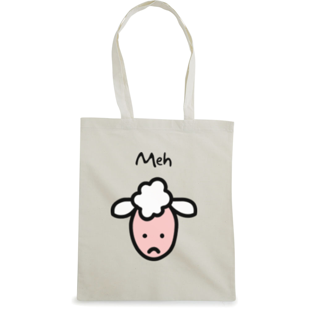 Meh tote bag  €14.99 Available in natural