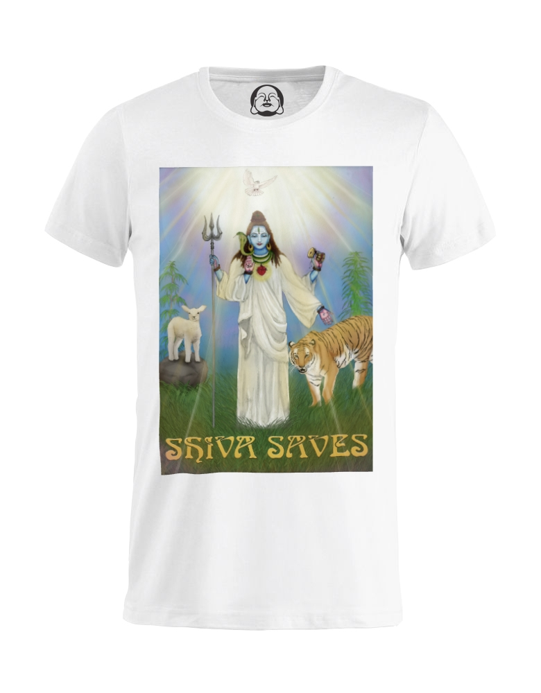 Shiva saves tee (white).jpg