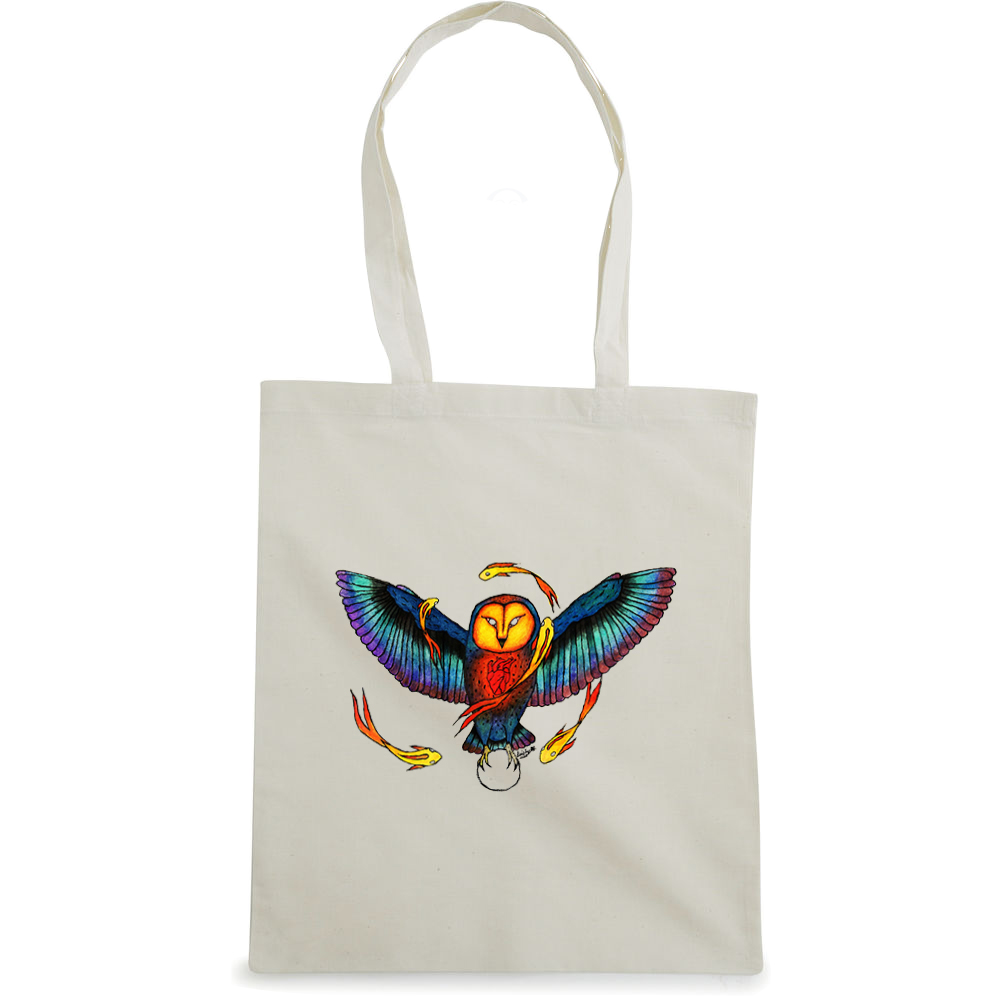 Cosmic Owl  tote bag  €14.99 Available in natural