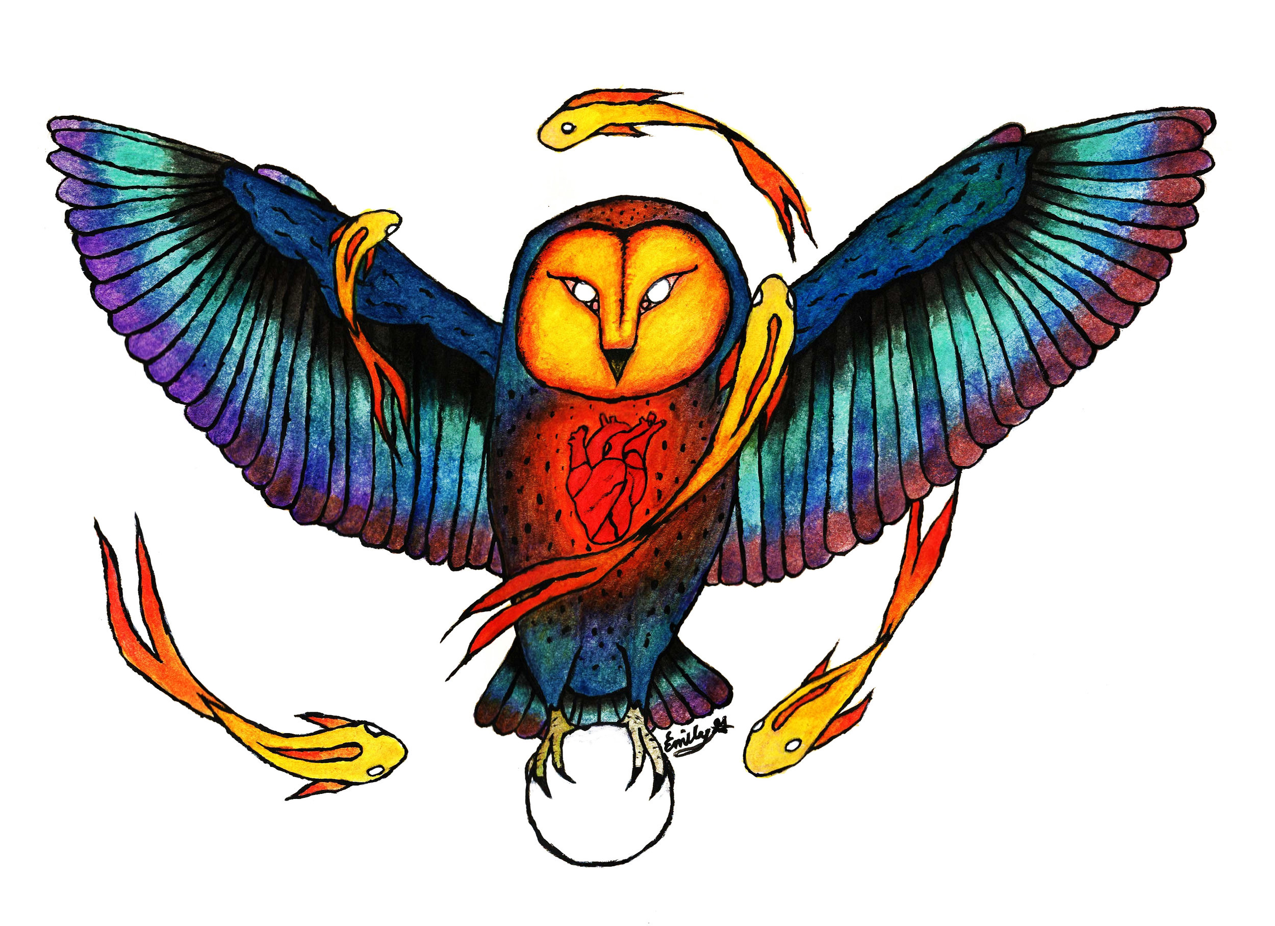 Cosmic Owl Poster  €9.99–€14.99 Available in A4, A3