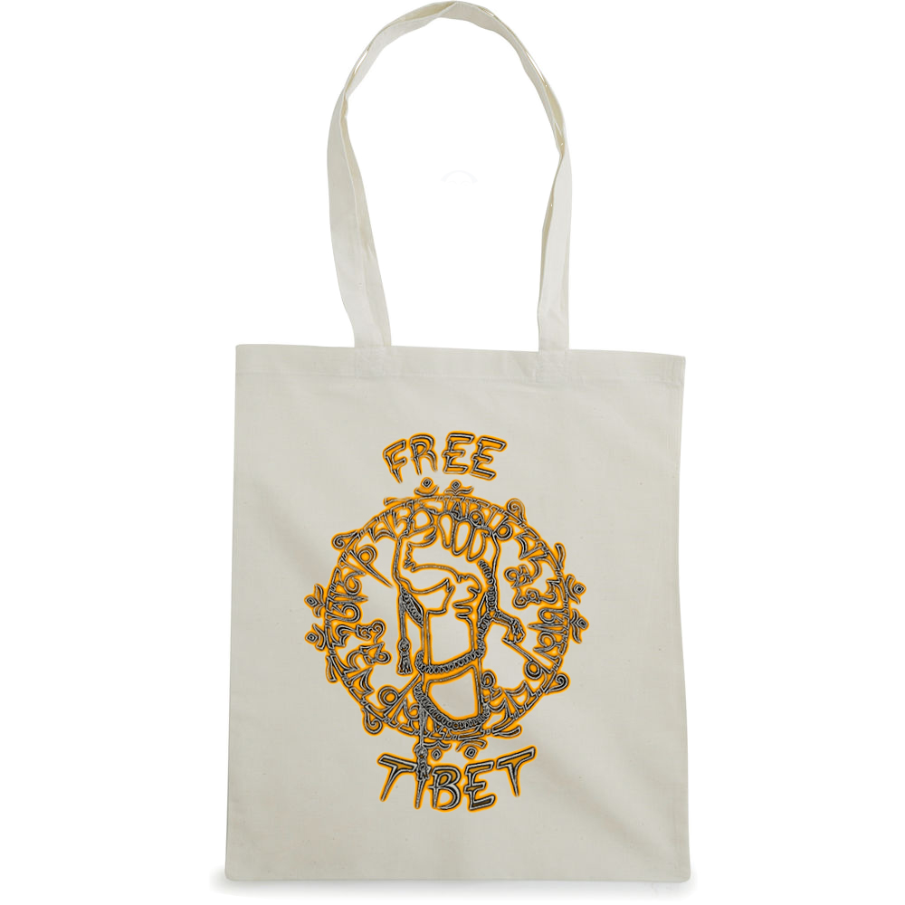 Free Tibet tote bag  €14.99 Available in natural, black