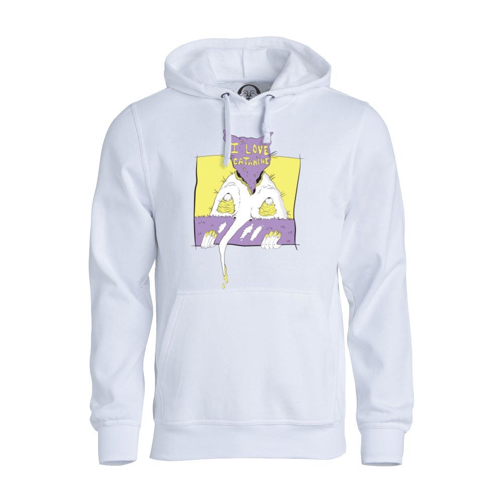 I Love Catamine hoodie  €34.99 Available in white