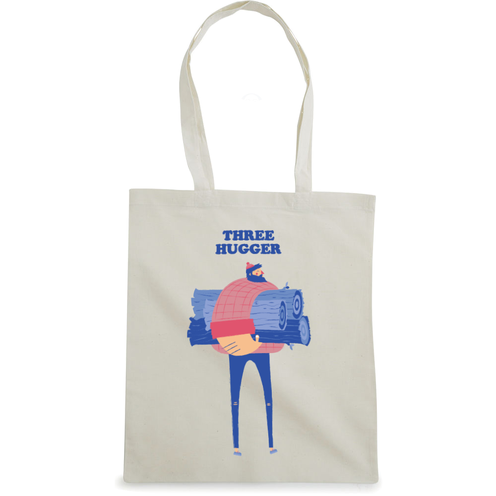 Three Hugger tote bag  €14.99 Available in natural
