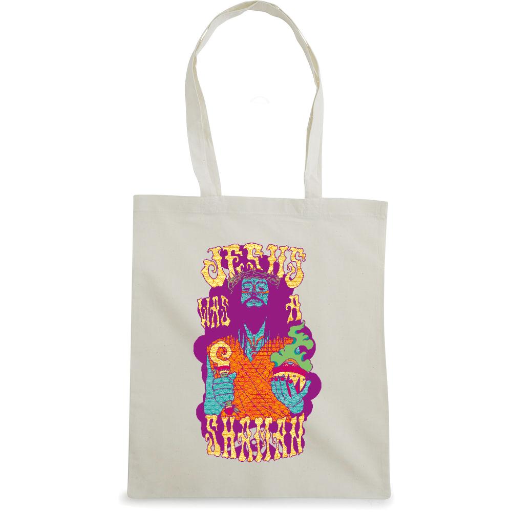 Jesus Shaman tote bag  €14.99 Available in natural