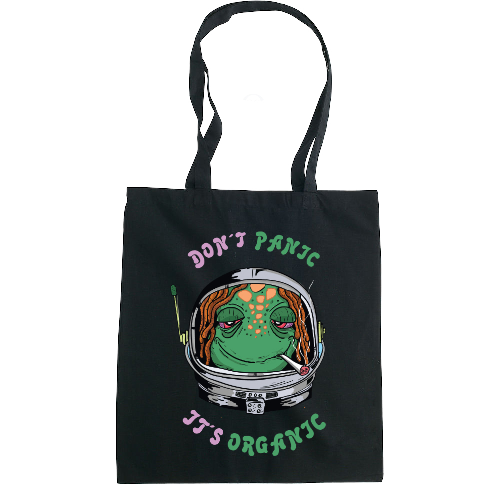 Don't Panic, It's Organic tote bag  €14.99 Available in natural, black