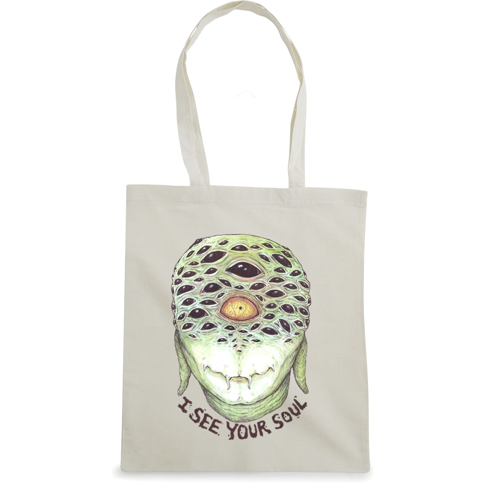 I See Your Soul tote bag  €14.99 Available in natural, black