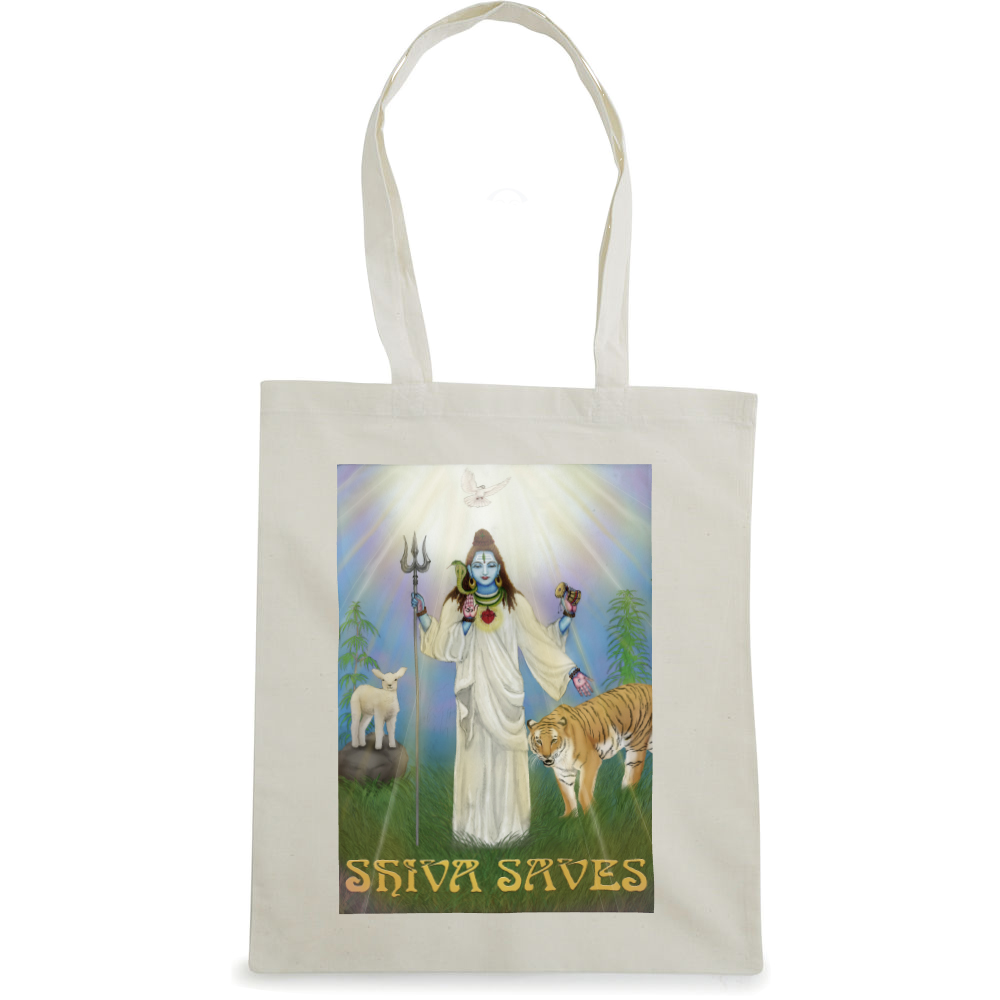 Shiva Saves tote bag  €14.99 Available in natural, black