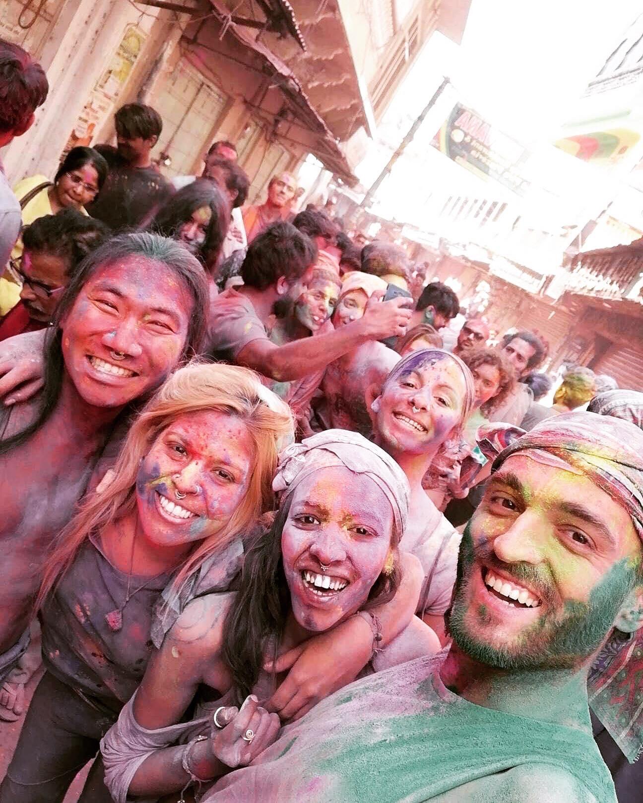 Holi – The Festival of Colours (mainly purple)