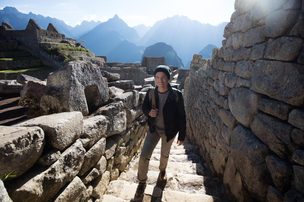 Tony at Machu Picchu, Peru in 2015. Photo by Chelsea Northrup, of course.