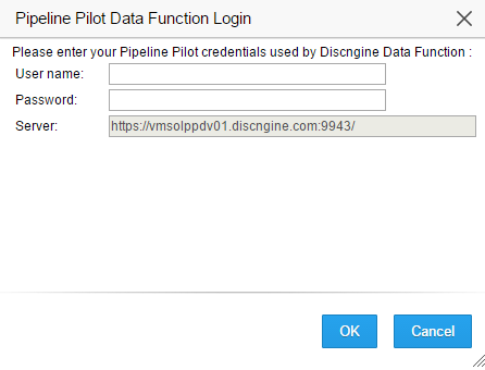 Pipeline Pilot authentication form in Spotfire Web Player