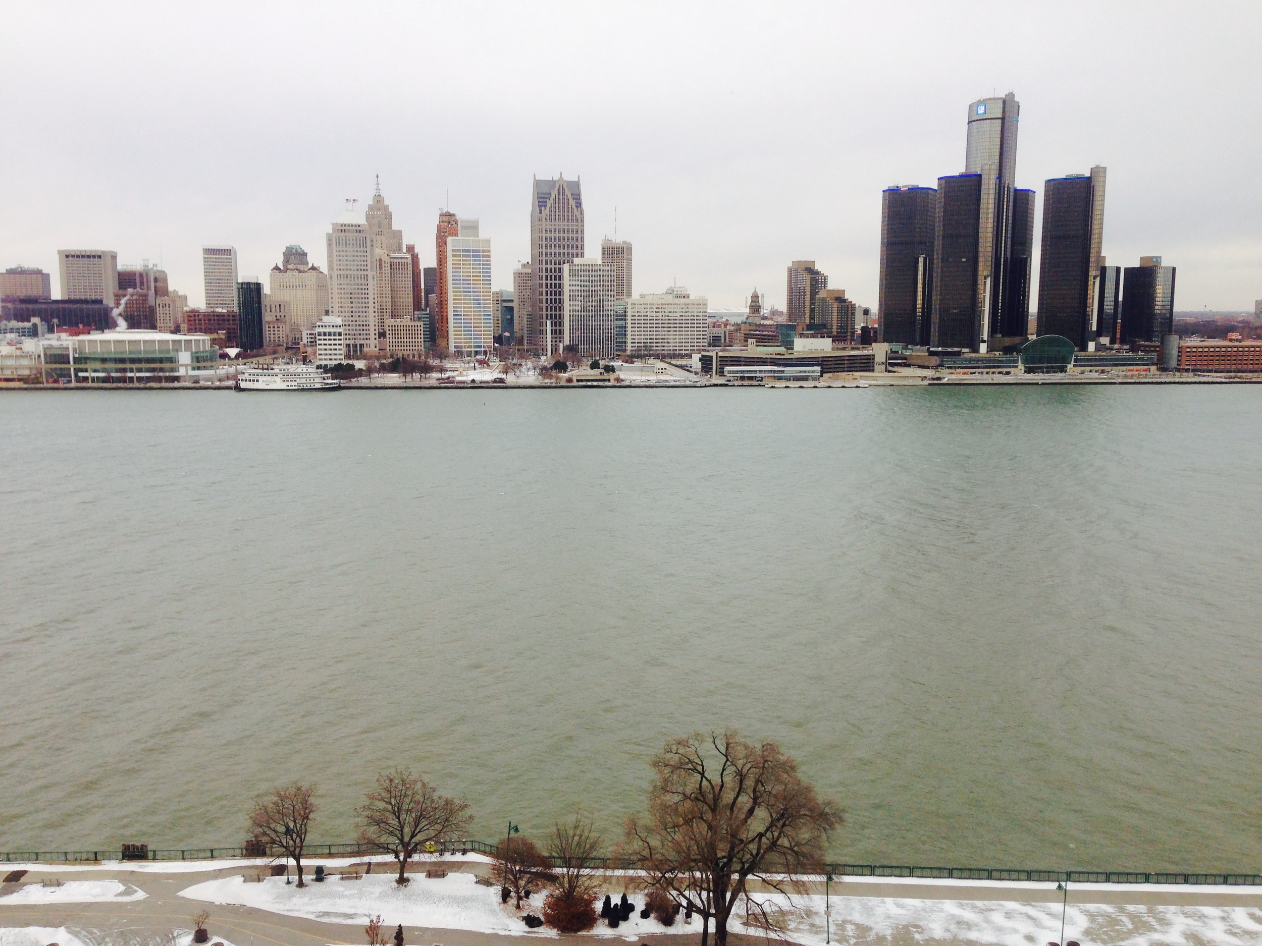 Detroit Skyline from Windsor, Ont.