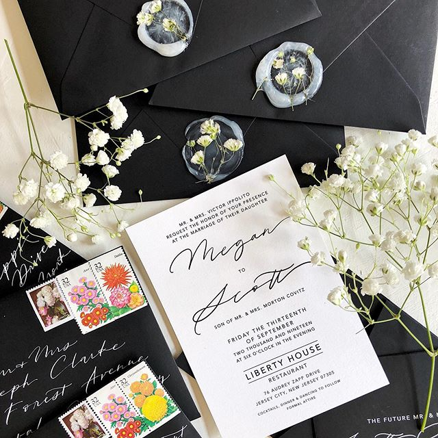 classic black and white sealed with real florals and the brightest vintage stamps . . . autumn is on the horizon but summer's growth with never fade. 🌾#countdowntocovitz #floralwaxseal