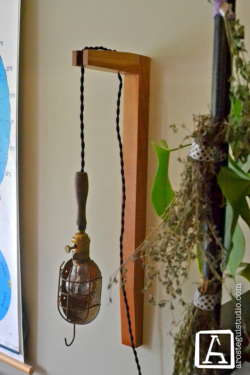 Sconce for pendant light- ©2014 Arostegui Studio