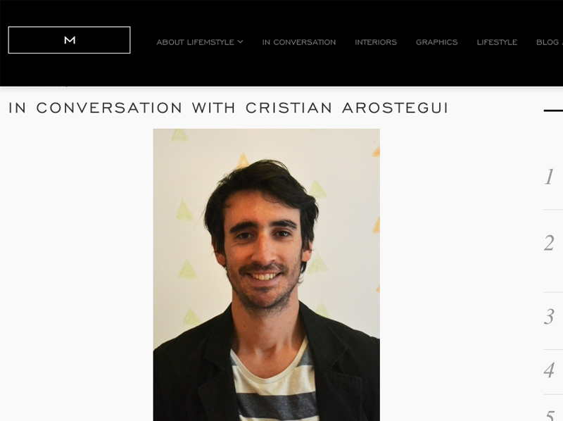 In conversation with Cristian Arostegui
