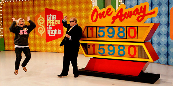 A contestant really enjoying the Price is Right. Courtesy CBS.