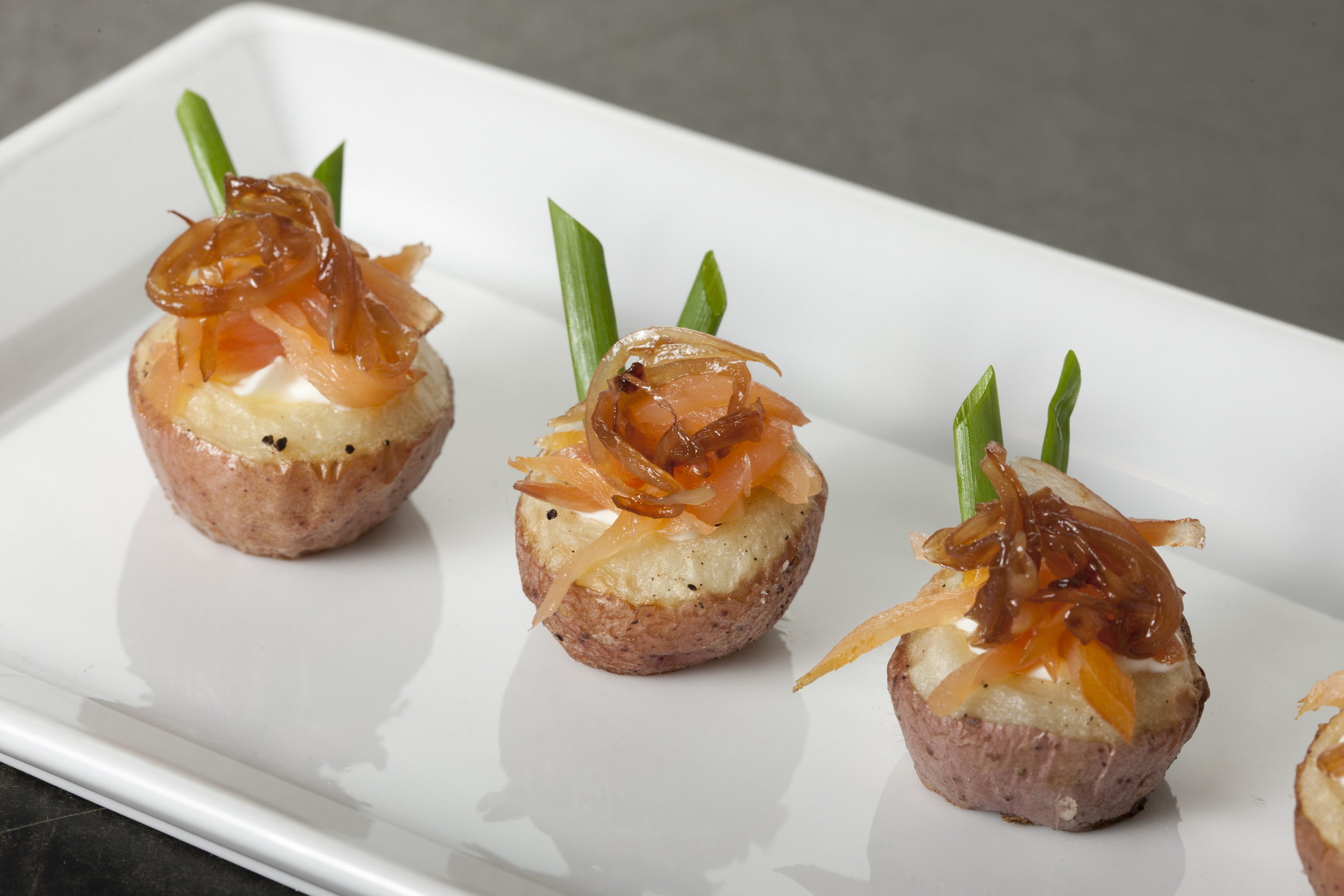 Smoked Salmon Potato Cup