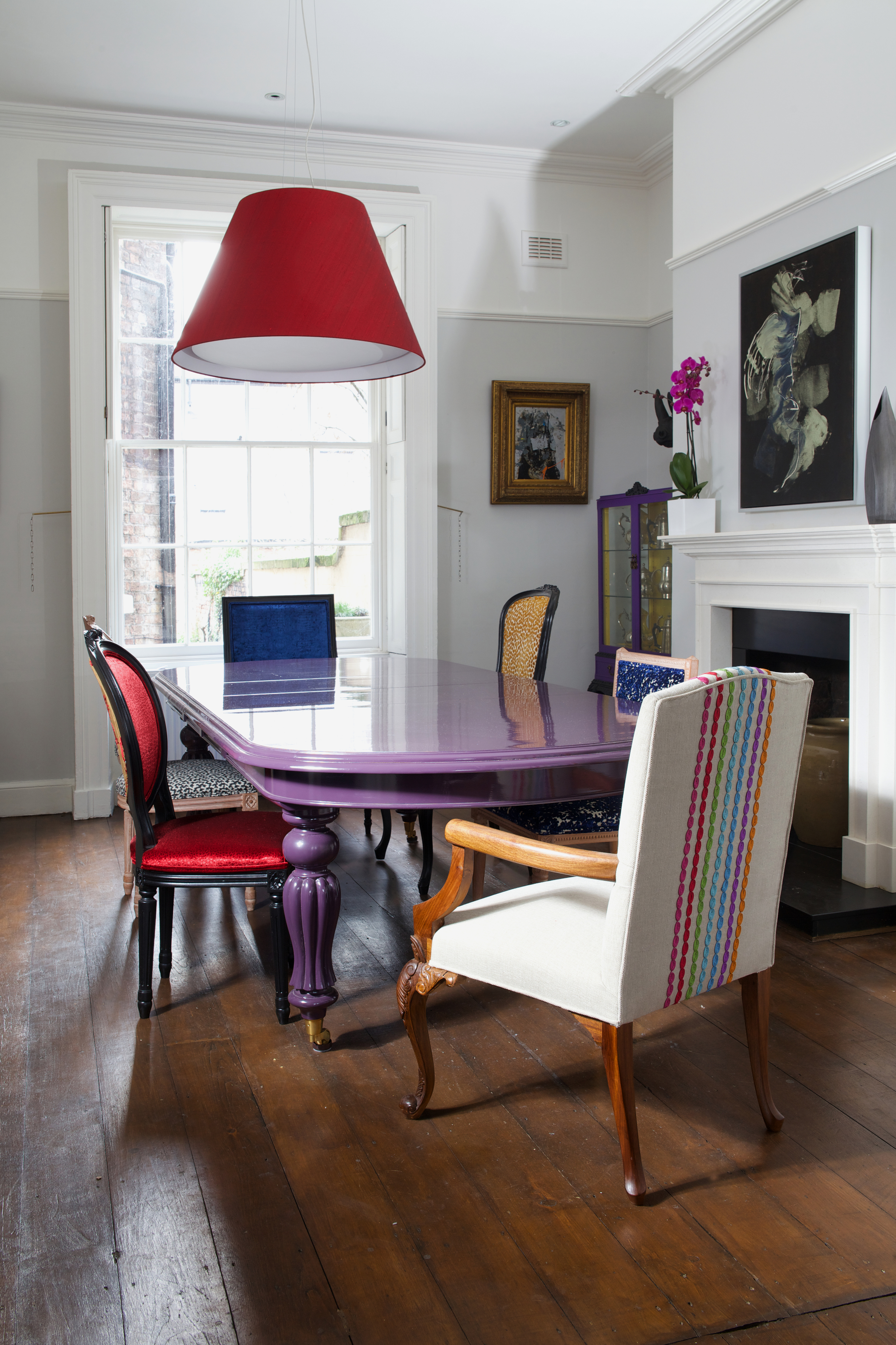 Number 2 Blackburn Terrace, Liverpool. A beautiful soon to open B&B in the heart of Liverpool, upholstered chairs by Kirsty Hull.