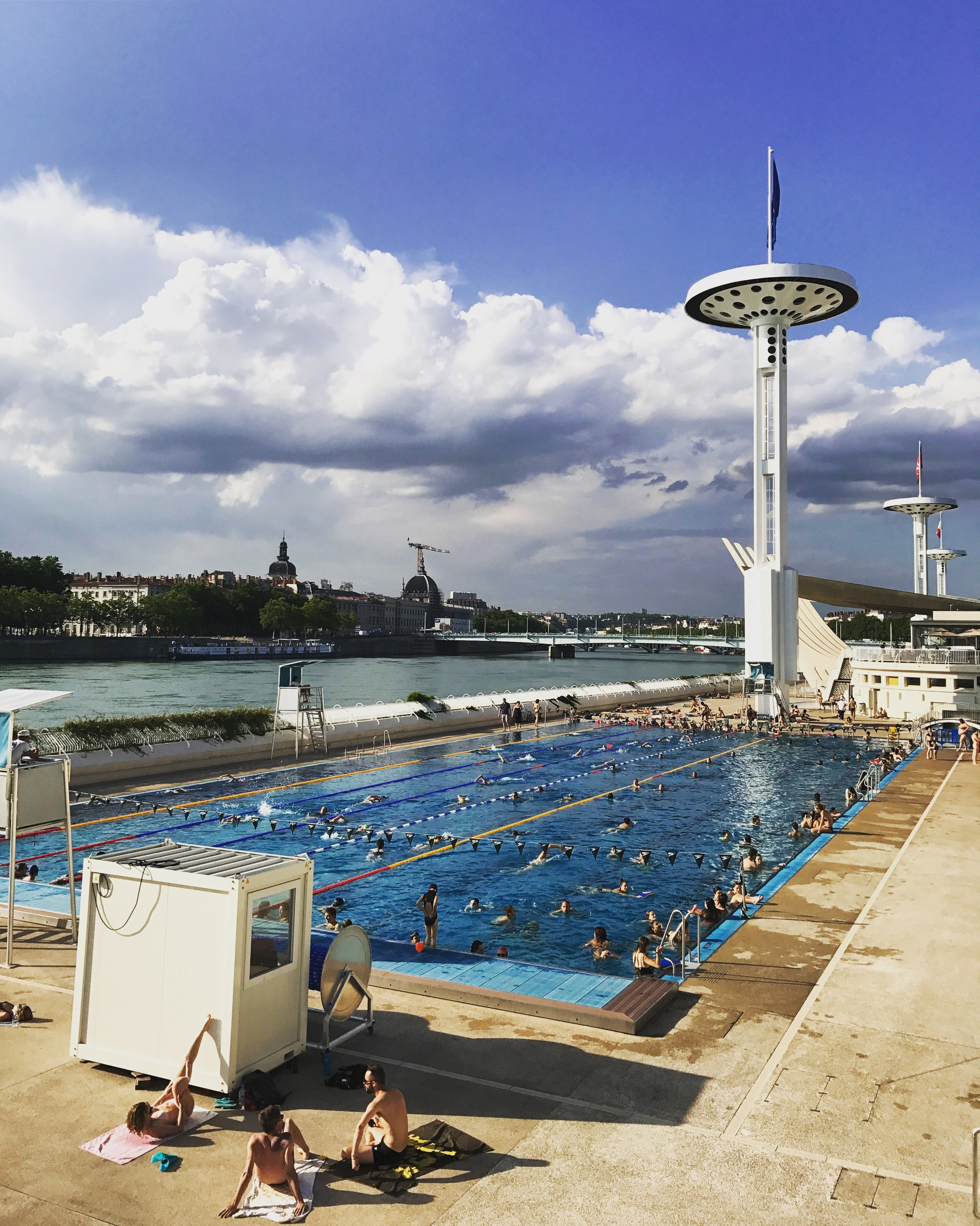 You may not be able to swim in the river, but Lyon does have amazing open air swimming facilities; something Brussels is craving for.