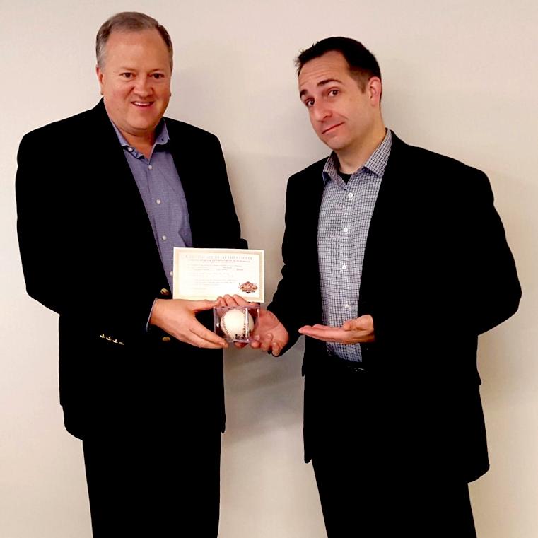 Bruce Hoskins of BDO (L) with Vessel Principal Peter Schwartz (R)