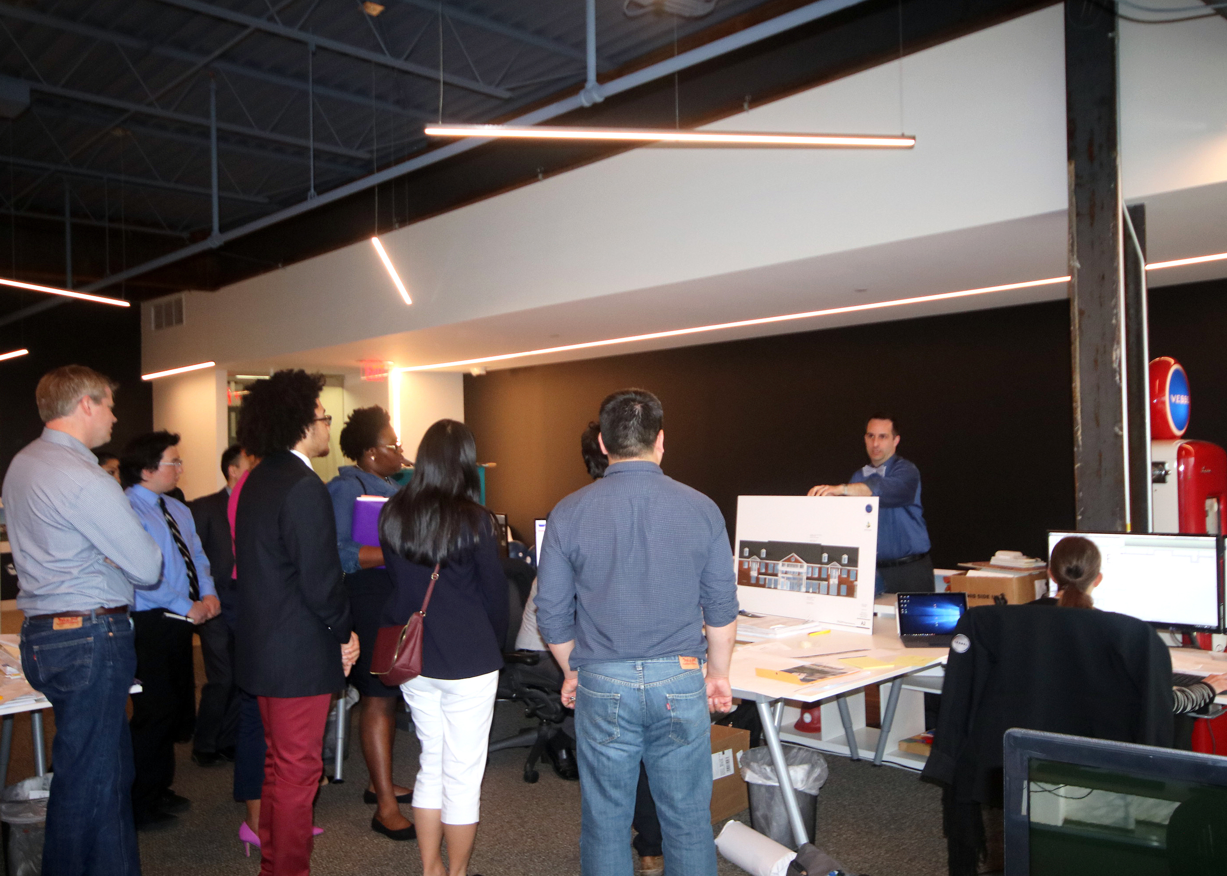 The MASP students take in a wealth of knowledge from Vessel's own Pete Schwartz.