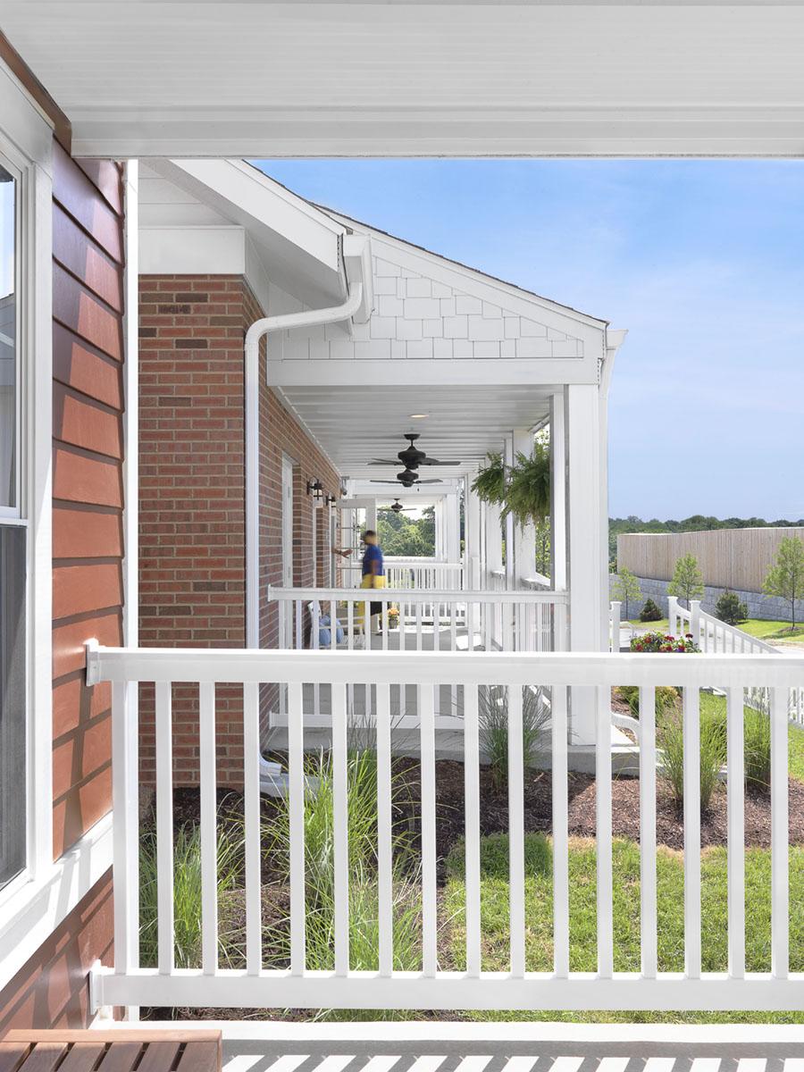 Boy's House Looking Through Porches