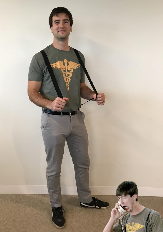 Adam as Cameron from Ferris Bueller